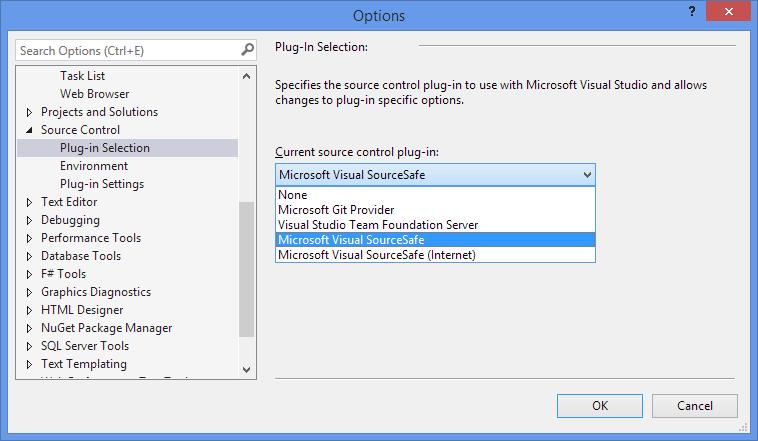 Visual Source Safe with Visual studio 2013 | Tech Blog