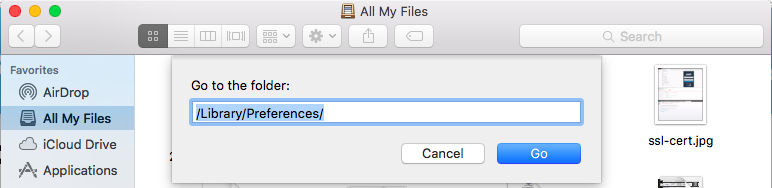 Library Preferences